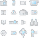 Dispositivos de la foto de los iconos Imagen de archivo libre de regalías