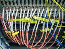 Dispositivos de la red con la porción de conexiones Imagen de archivo