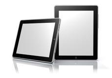 Dispositivos de la tablilla de la pantalla táctil (camino de recortes) Imágenes de archivo libres de regalías