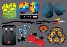 Dispositivos de los sonidos Imagen de archivo libre de regalías