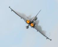 Dispositivos de poscombustión del avión de combate Imagenes de archivo