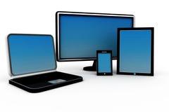 Dispositivos del ordenador Foto de archivo libre de regalías