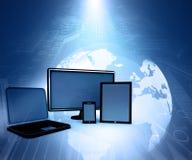Dispositivos del ordenador stock de ilustración