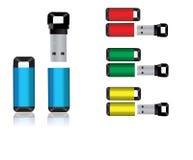 Dispositivos del USB Imagen de archivo libre de regalías