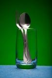 Dispositivos del vidrio y de la cocina Fotografía de archivo