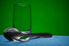 Dispositivos del vidrio y de la cocina Foto de archivo
