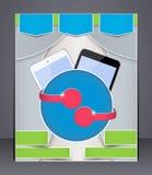 Dispositivos digitales del folleto Imagen de archivo libre de regalías