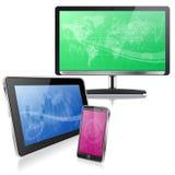Dispositivos do computador Fotografia de Stock