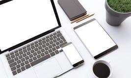 Dispositivos do negócio Foto de Stock