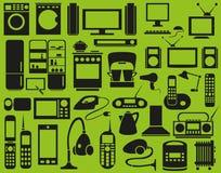 Dispositivos dos ícones Fotografia de Stock Royalty Free