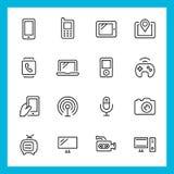 Dispositivos e iconos del vector de la tecnología Imagen de archivo libre de regalías