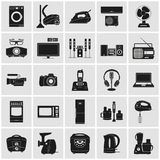Dispositivos e iconos detallados de la electrónica libre illustration