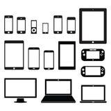 Dispositivos electrónicos ilustración del vector
