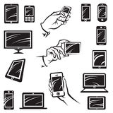 Dispositivos electrónicos Imagenes de archivo