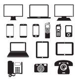 Dispositivos electrónicos ilustração do vetor