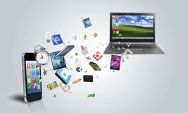 Dispositivos electrónicos Imagen de archivo