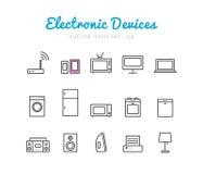 Dispositivos electrónicos ilustração royalty free