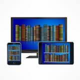 Dispositivos electrónicos de la biblioteca libre illustration