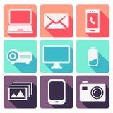Dispositivos electrónicos modernos fijados Foto de archivo