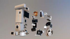 Dispositivos elegantes en la palabra IoT