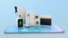 Dispositivos elegantes en un teléfono elegante libre illustration