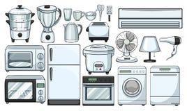 Dispositivos eletrónicos usados na cozinha ilustração do vetor