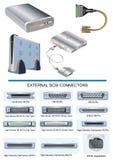Dispositivos externos stock de ilustración