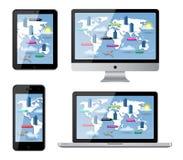Dispositivos isolados Imagem de Stock