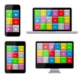 Dispositivos isolados Fotos de Stock