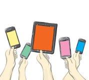 Dispositivos móveis Foto de Stock Royalty Free