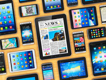 Dispositivos móveis Fotografia de Stock Royalty Free