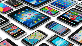 Dispositivos móveis ilustração royalty free