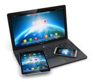 Dispositivos móviles modernos ilustración del vector