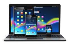 Dispositivos móviles modernos stock de ilustración