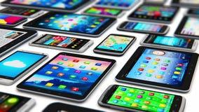 Dispositivos móviles modernos libre illustration