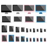 Dispositivos móviles y pantallas stock de ilustración