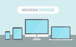 Dispositivos modernos ilustração royalty free