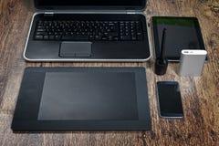 Dispositivos modernos da tecnologia Foto de Stock Royalty Free