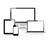 Dispositivos modernos del tehnology fijados Imágenes de archivo libres de regalías