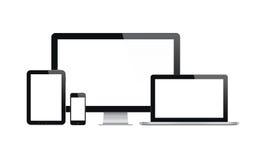 Dispositivos modernos do tehnology ajustados Foto de Stock Royalty Free