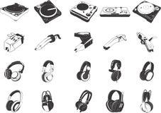 Dispositivos musicales Fotos de archivo libres de regalías