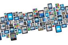 Dispositivos móveis Foto de Stock