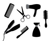 Dispositivos para el cuidado del cabello Imagen de archivo libre de regalías