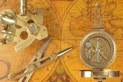 Dispositivos pasados de moda de la navegación Fotos de archivo