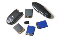 Dispositivos de armazenamento Imagem de Stock