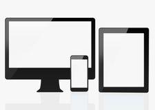 Dispositivos, tabuleta & monitor espertos modernos Fotografia de Stock Royalty Free