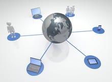 Dispositivos y comunidades conectados globales Imagenes de archivo