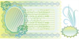 Disposizione in bianco della banconota Immagine Stock Libera da Diritti