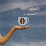 A disposizione caffè d'offerta Fotografia Stock
