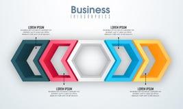 Disposizione creativa di Infographic di affari con gli elementi Fotografia Stock Libera da Diritti
